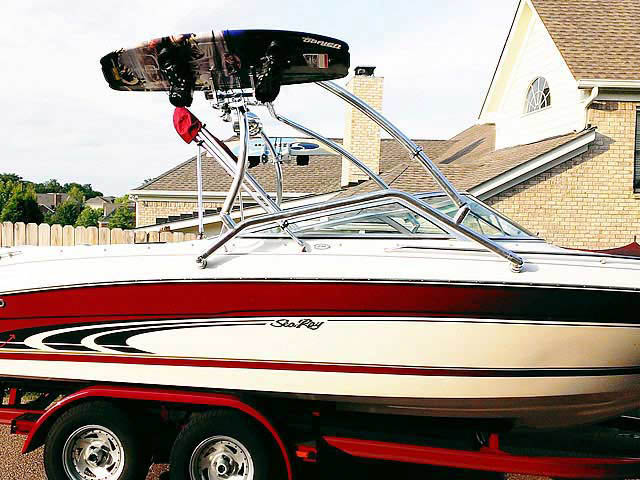 Wakeboard Tower for 1998 Sea Ray  210BR installed on 09/16/2013