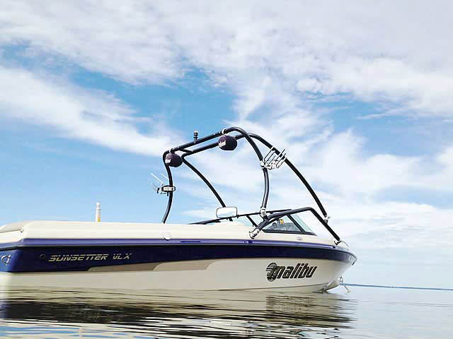 Wakeboard Tower for 2001 Malibu Sunsetter VLX  installed on 10/07/2013