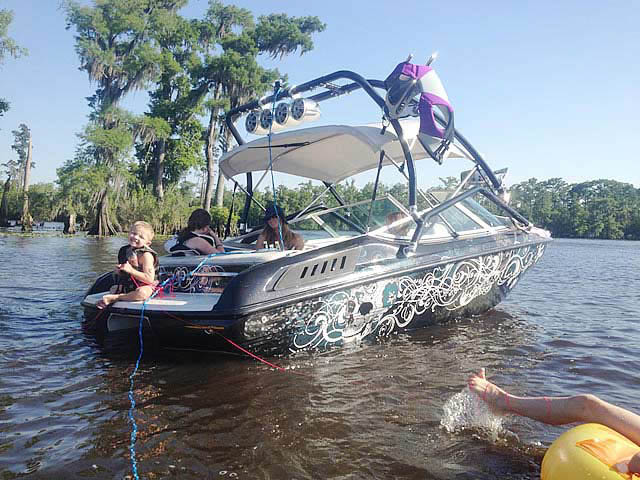 Airborne Tower wakeboard tower installed on 1994 Chaparral SL 180 Limited  boat