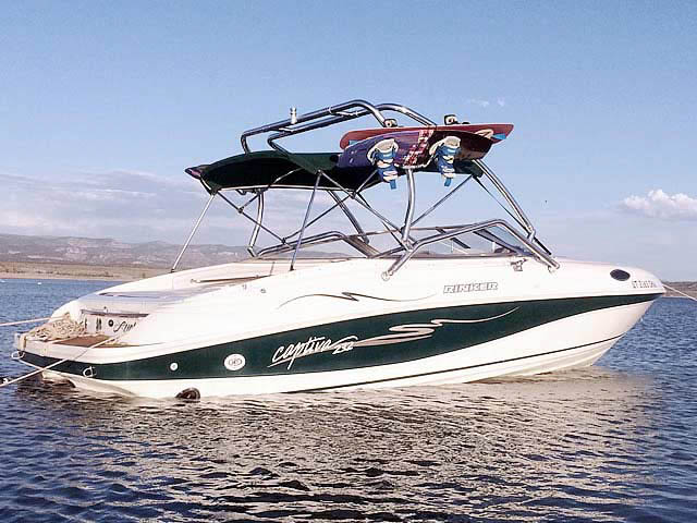 Wakeboard Tower for 1998 Rinker Captiva 232 Cuddy  installed on 06/09/2014