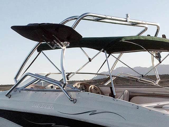 Airborne Tower wakeboard tower installed on 1998 Rinker Captiva 232 Cuddy  boat