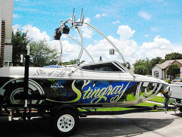 Wakeboard Tower for 1999 Stingray 190lx installed on 06/18/2014