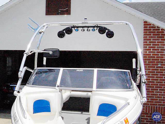 Airborne Tower wakeboard tower installed on 1999 Stingray 190lx boat
