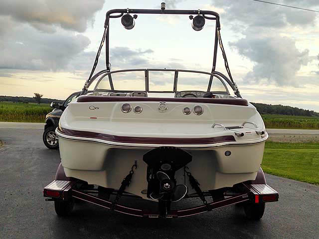 Assault Tower wakeboard tower installed on '06 Tahoe Q6 boat