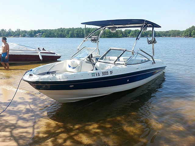 Wakeboard Tower for 2005 Bayliner 205 installed on 06/18/2014