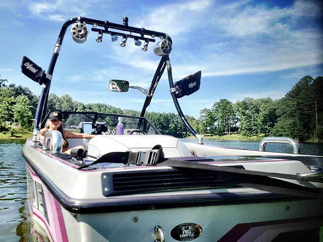 Ascent Tower wakeboard tower installed on 1988 ski nautique  boat