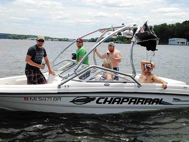 Wakeboard Tower for 2001 Chaparral 180 SSE installed on 07/07/2014