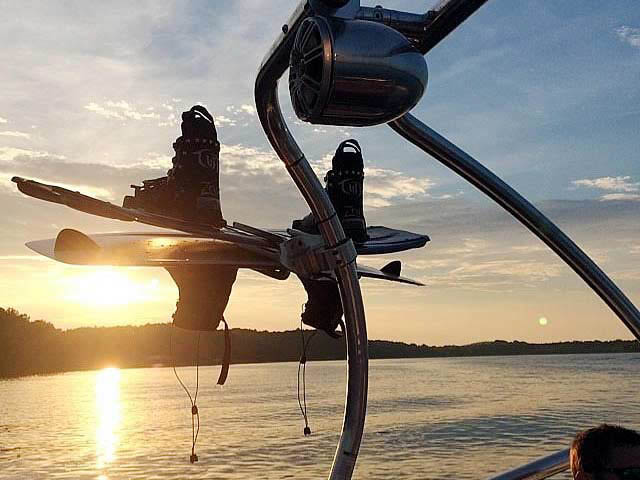 Airborne Tower wakeboard tower installed on 2001 Chaparral 180 SSE boat