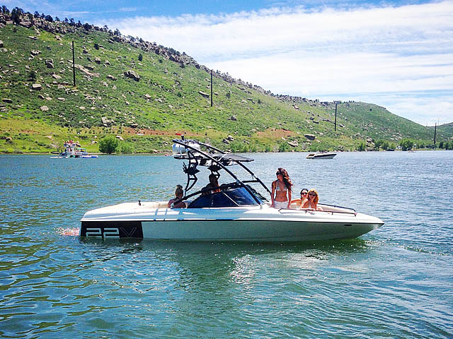 Assault Tower wakeboard tower installed on 1998 Tige pre2200v boat