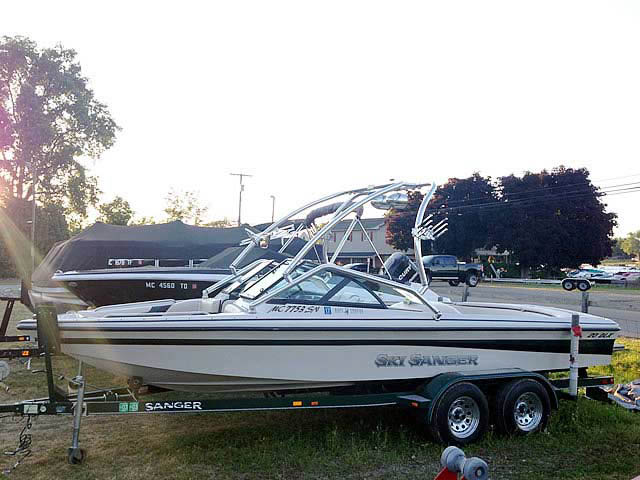 Wakeboard Tower for 1998, Sanger, dlx installed on 07/09/2014