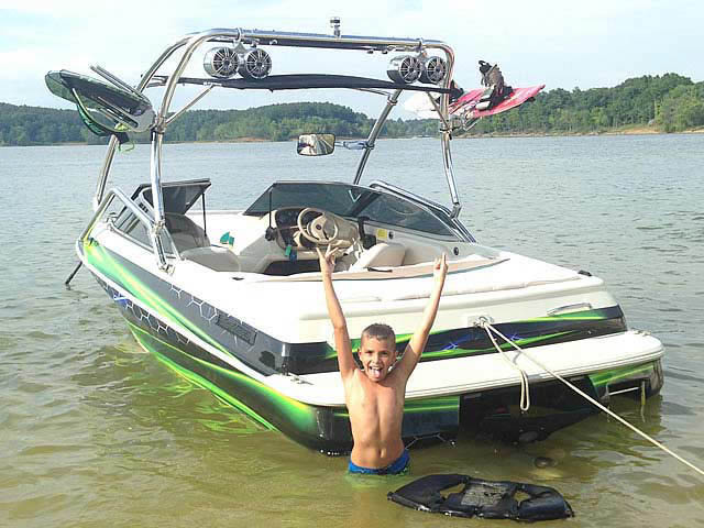 Wakeboard Tower for 1996 Sylvan Runabout installed on 07/10/2014