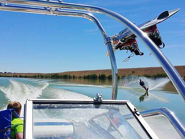 Airborne Tower wakeboard tower installed on 1994 Bayliner Capri 2050 boat