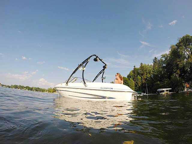 Wakeboard Tower for 2005 Glastron MX 175 installed on 08/21/2015