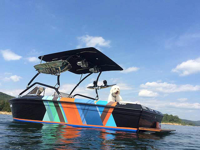Wakeboard Tower for 1983 Supra Rider installed on 07/11/2014