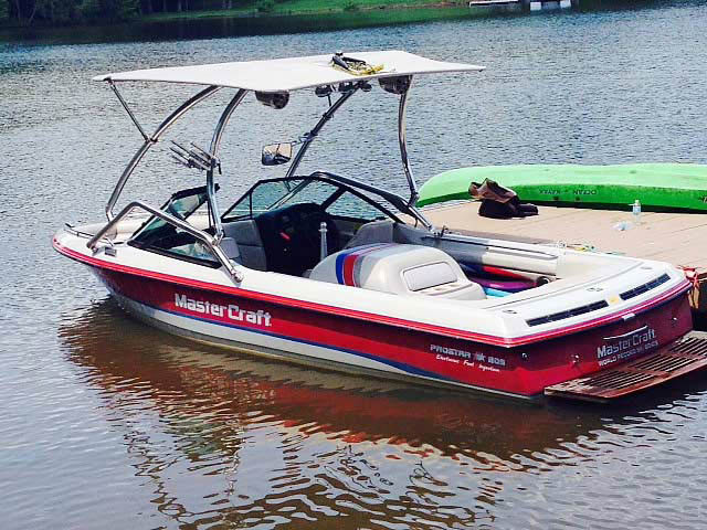 Wakeboard Tower for 1994 MasterCraft Prostar 205 installed on 07/11/2014