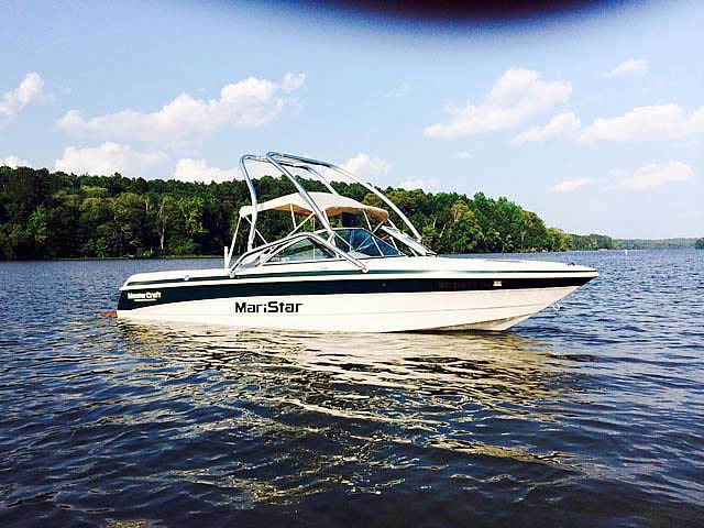 Wakeboard Tower for 1999, MasterCraft Maristar 205 VRS installed on 07/13/2014