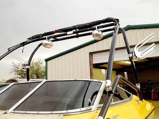 Airborne Tower wakeboard tower installed on 2001 Mariah Z212  boat