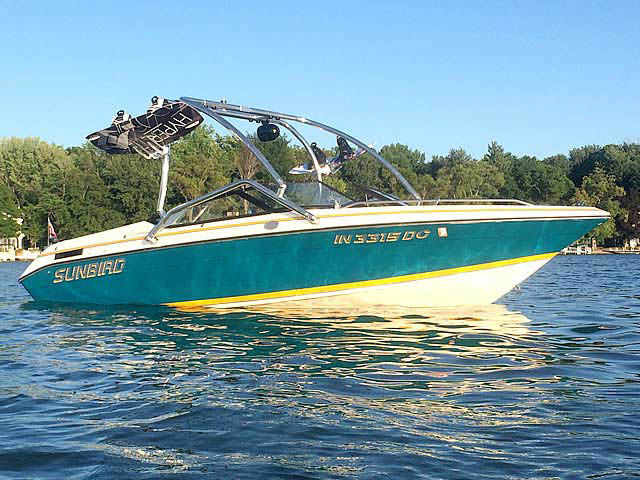 Wakeboard Tower for 1992 Sunbird 205 Corsair installed on 07/14/2014