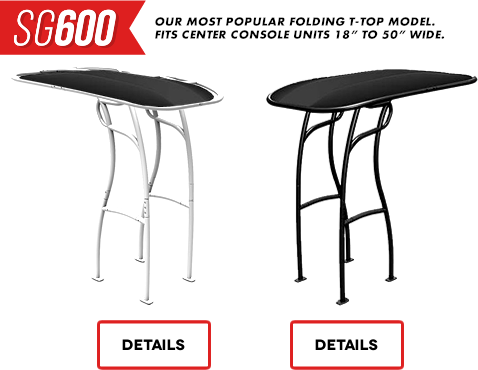 SG600 Boat T-Top is our folding model
